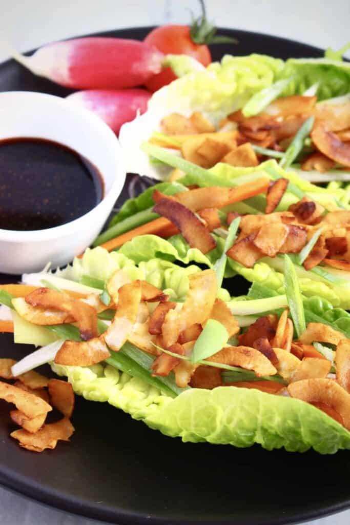 Vegan Crispy Duck Lettuce Wraps (GF)
