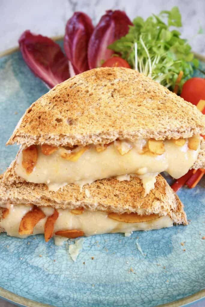 Vegan Coconut Bacon Stretchy Melty Grilled Cheese (GF)