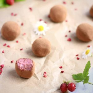 Vegan Strawberry Chocolate Truffles