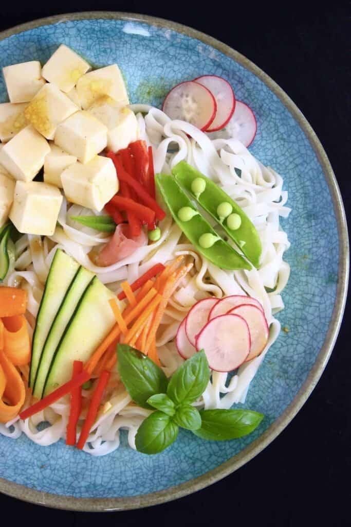 Vegan Tofu Rice Noodle Salad (GF)