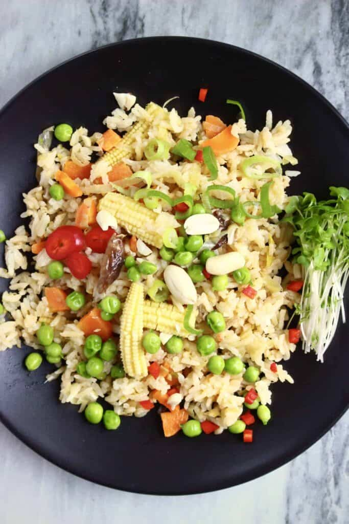 Vegan Peanut Butter Fried Rice (GF)