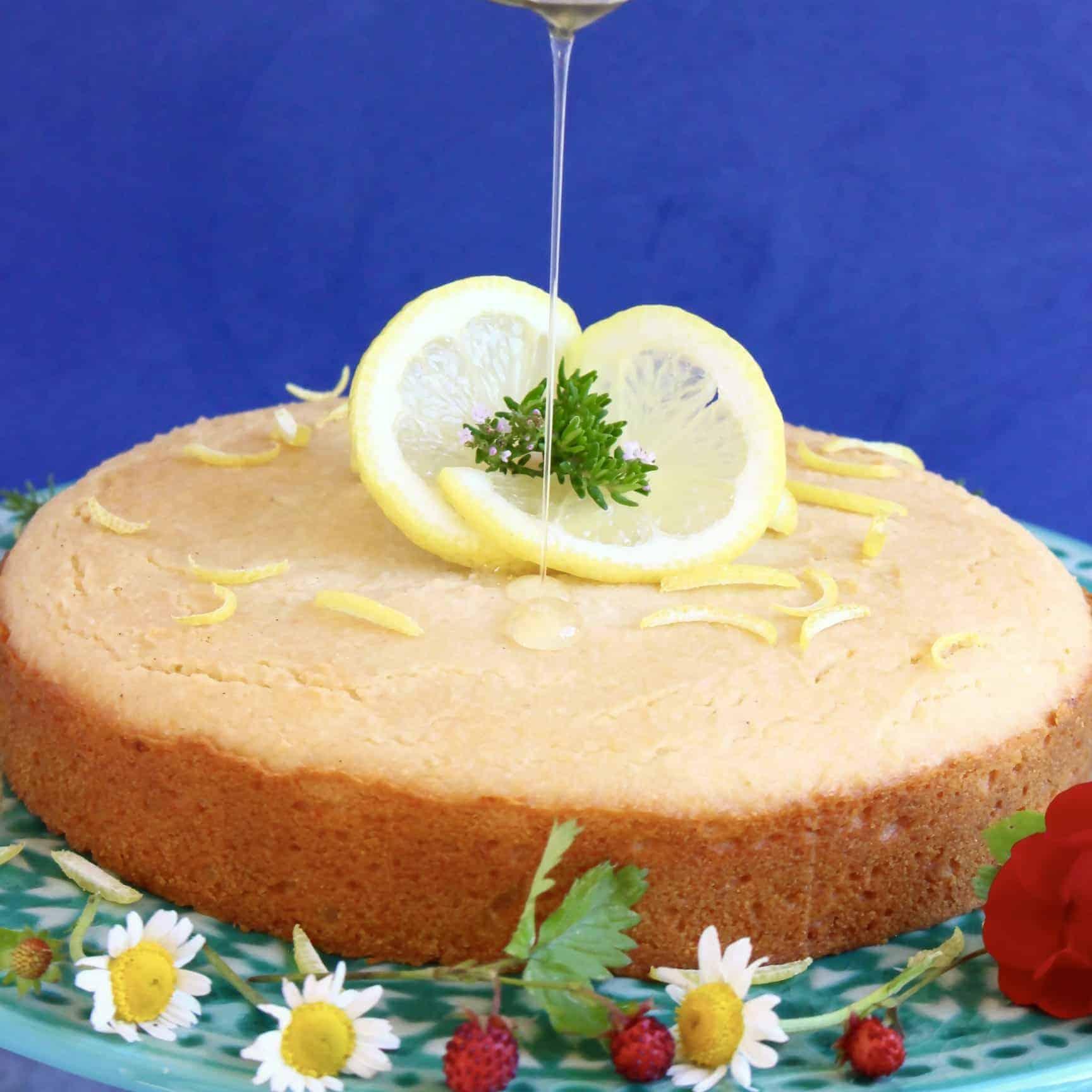 Gluten-Free Vegan Lemon Drizzle Cake