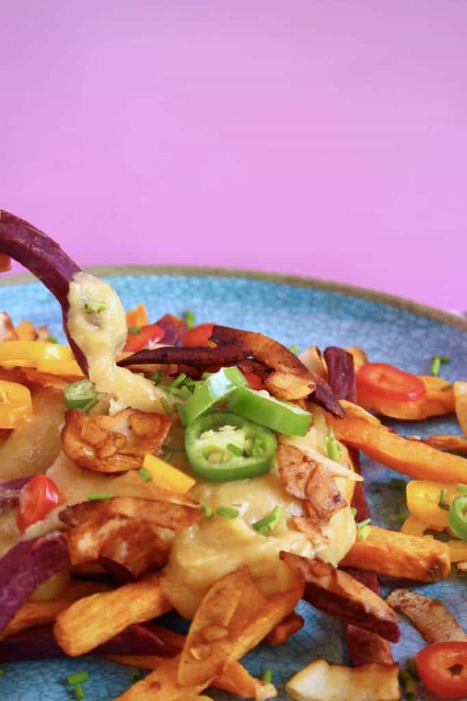 Vegan Stretchy Melty Cheesy Fries (GF)