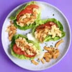 Vegan Chickpea Mayo Coconut Bacon Lettuce Wraps (GF)