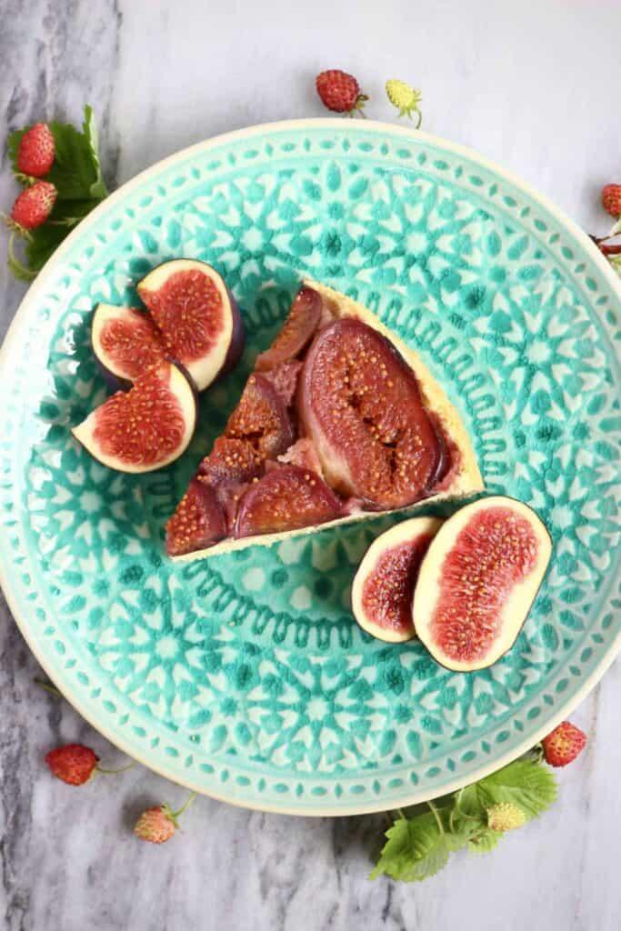 Gluten-Free Vegan Fig Upside Down Cake
