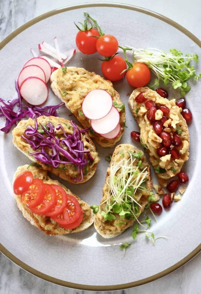 Vegan Smashed Eggplant Toast (GF)