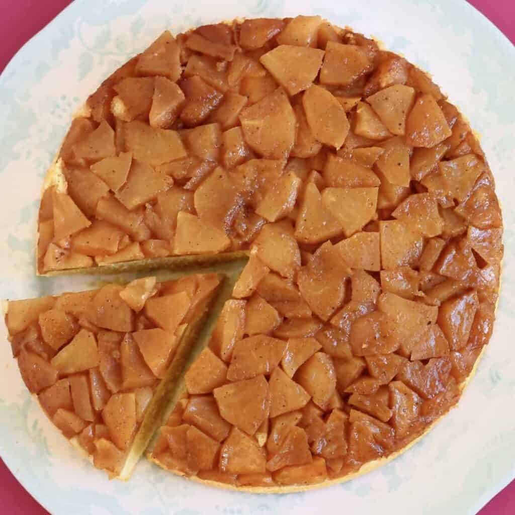 Gluten Free Vegan Apple Upside Down Cake