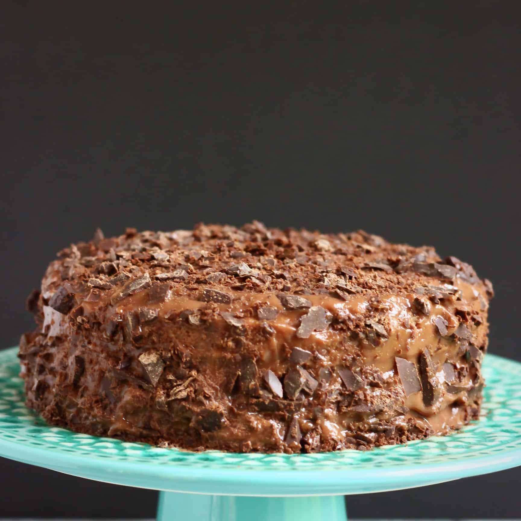 Gluten-Free Vegan Brooklyn Blackout Chocolate Cake