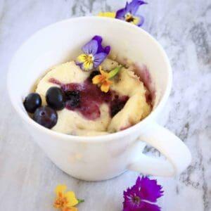 Vegan Lemon Blueberry Microwave Mug Cake
