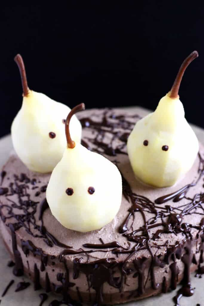 Gluten Free Vegan Halloween Ghost Cake Rhian S Recipes