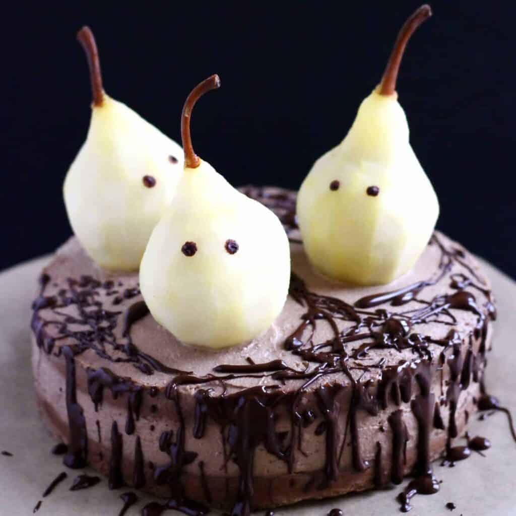 Gluten-Free Vegan Halloween Ghost Cake