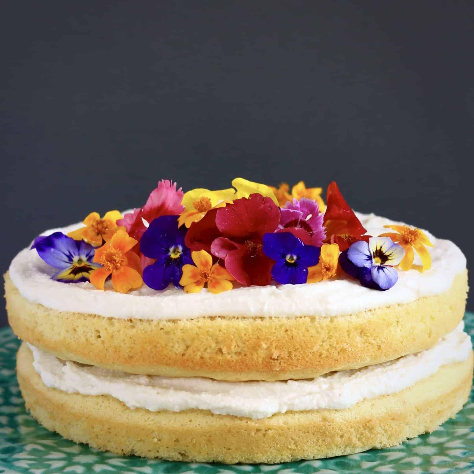 Gluten-Free Vegan White Chocolate Lemon Cake
