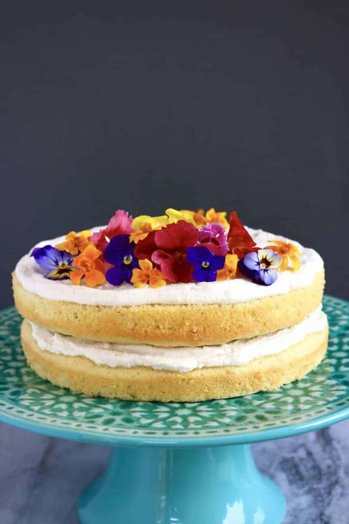 Gluten-Free Vegan White Chocolate Lemon Cake