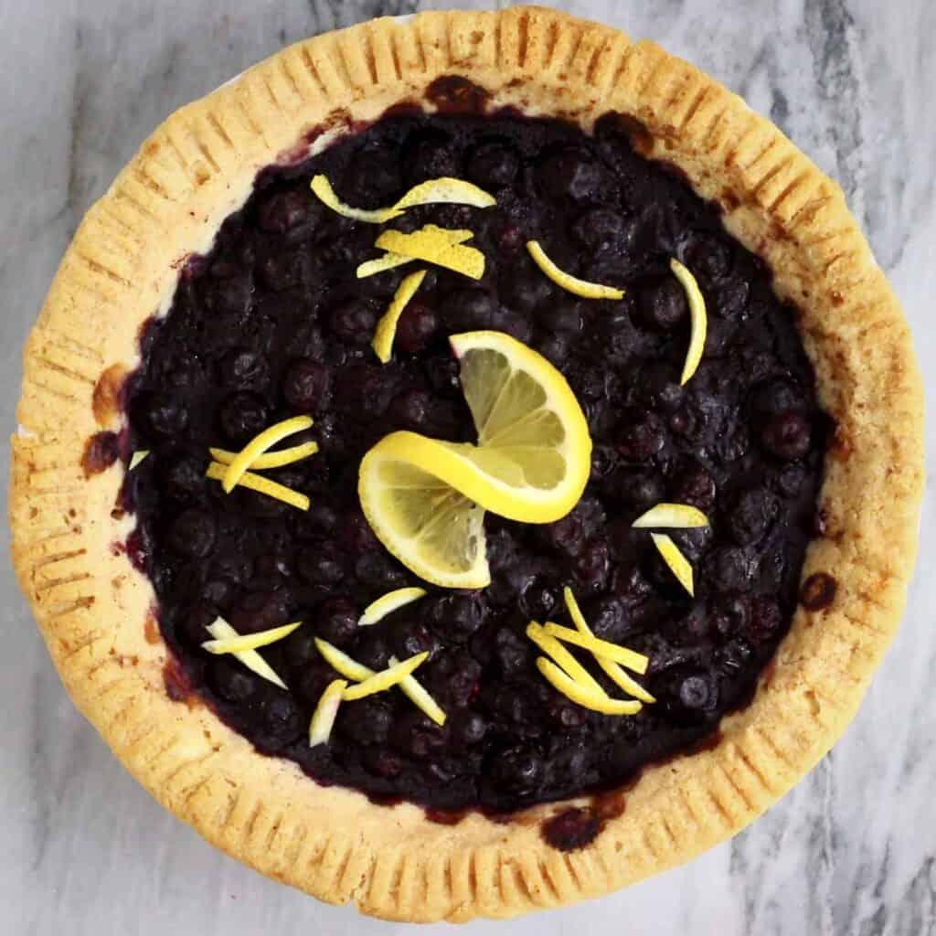 Gluten-Free Vegan Blueberry Pie
