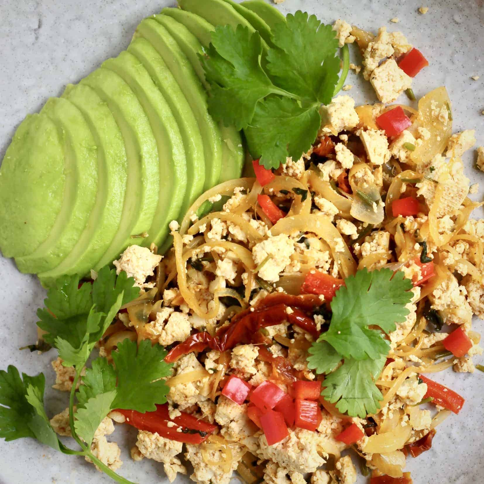 Vegan Mexican Tofu Scramble (GF)