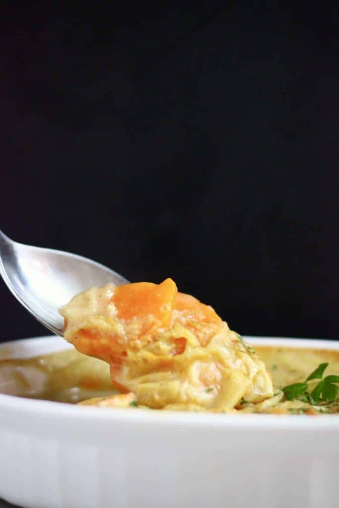 Vegan Scalloped Sweet Potato Gratin (GF)