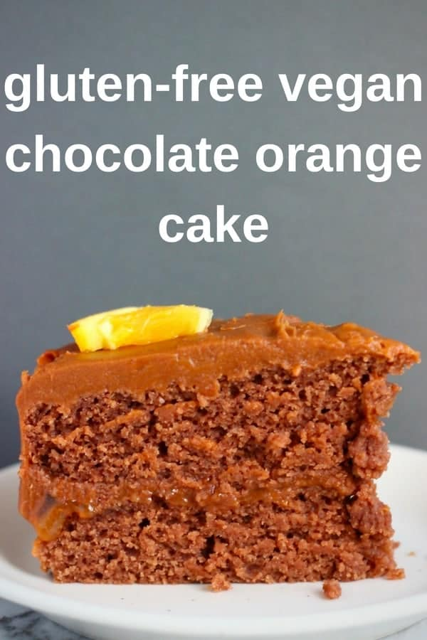 This Gluten-Free Vegan Chocolate Orange Cake is rich and decadent, moist and fluffy, and fruity and citrusy! Covered in a silky chocolate sweet potato buttercream frosting. Refined sugar free. #vegan #glutenfree #dairyfree #plantbased #chocolate #orange #cake