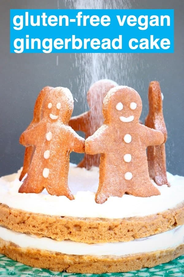 This Gluten-Free Vegan Gingerbread Cake issweet and fragrant,covered in a delicious