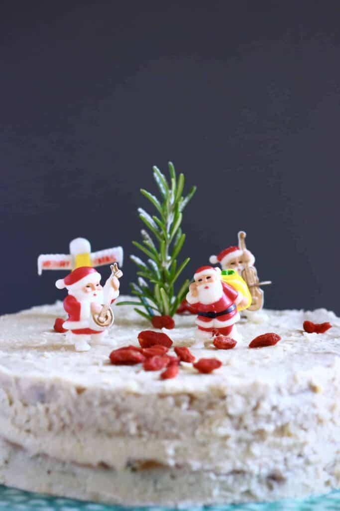 Gluten-Free Vegan Christmas Fruit Cake