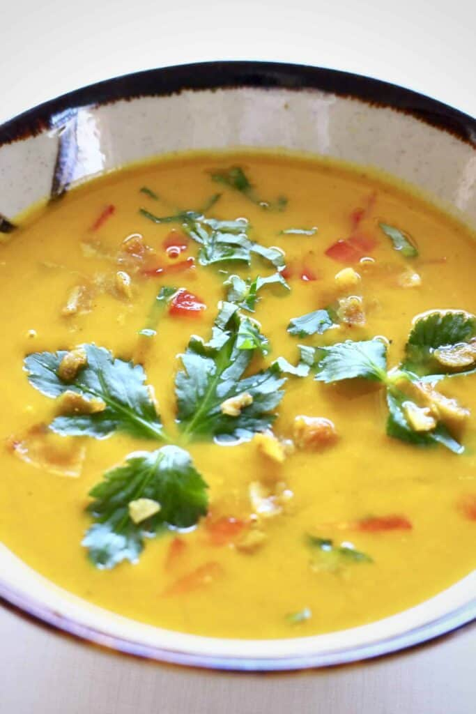 Vegan Pumpkin Curry Soup (GF)