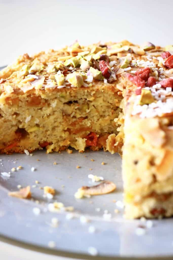 Gluten-Free Vegan Tropical Fruit Cake