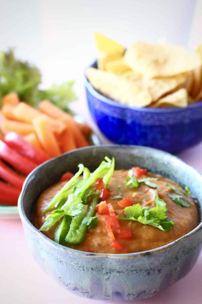 Vegan White Bean Queso (GF)