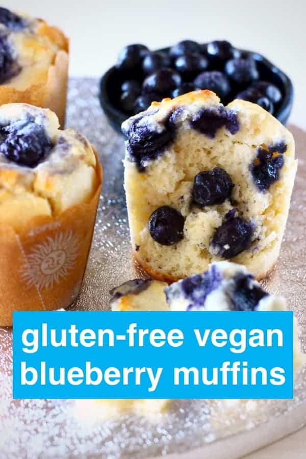 These Gluten-Free Vegan Blueberry Muffins are moist and fluffy, packed full of sweet, juicy blueberries and definitely healthy enough for breakfast! Egg-free, dairy-free and refined sugar free. #vegan #glutenfree #dairyfree #eggfree #refinedsugarfree #muffins #blueberry #breakfast