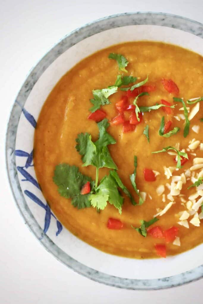 Sweet Potato Peanut Soup (Vegan + GF)