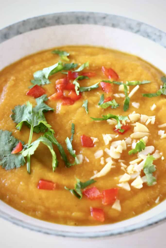 Sweet Potato Peanut Soup (Vegan + GF)