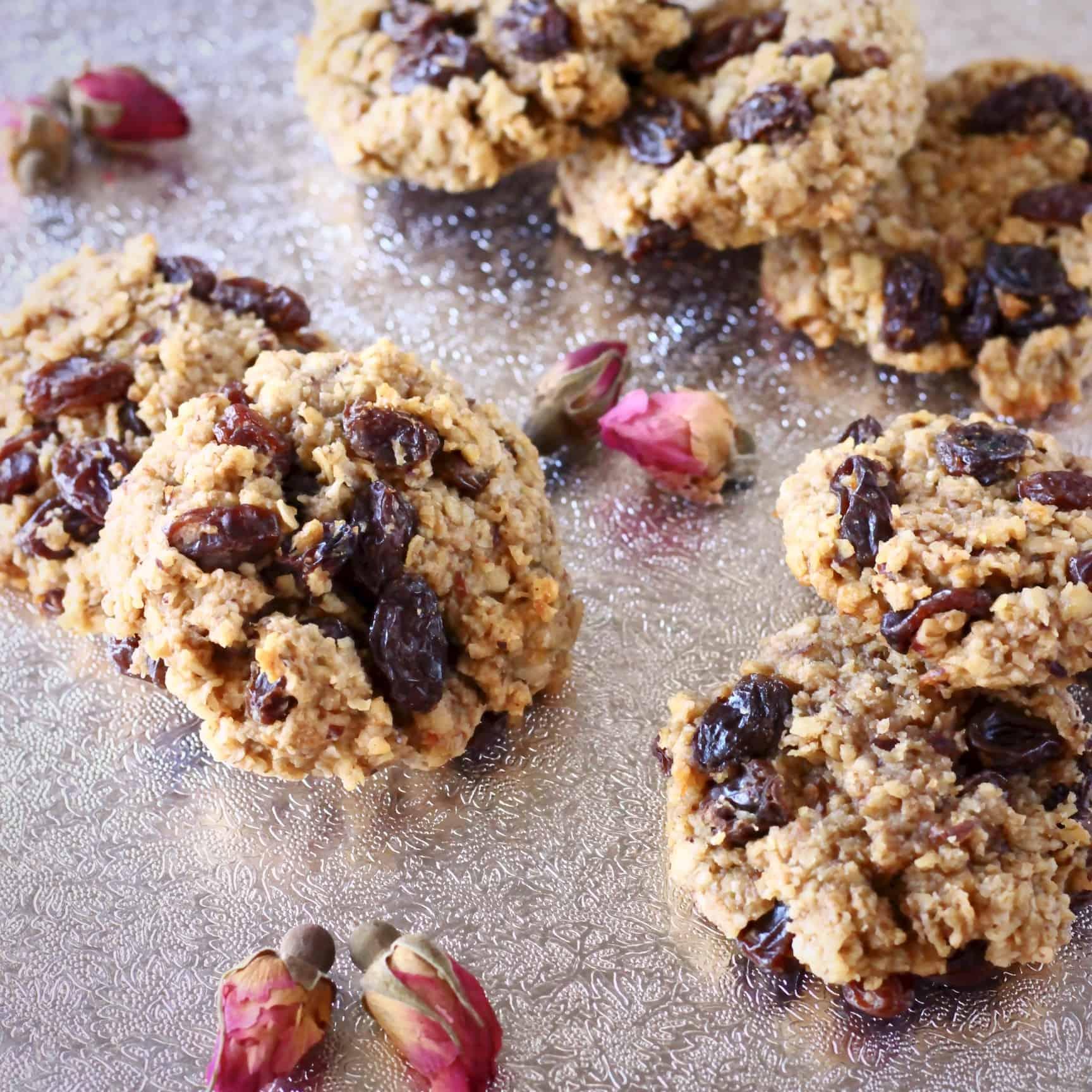 Gluten-Free Vegan Oatmeal Raisin Cookies
