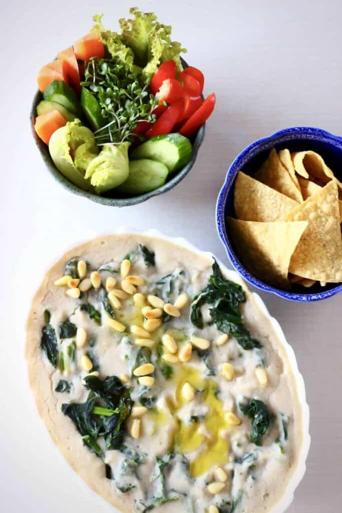 Vegan Spinach Artichoke Dip (GF)