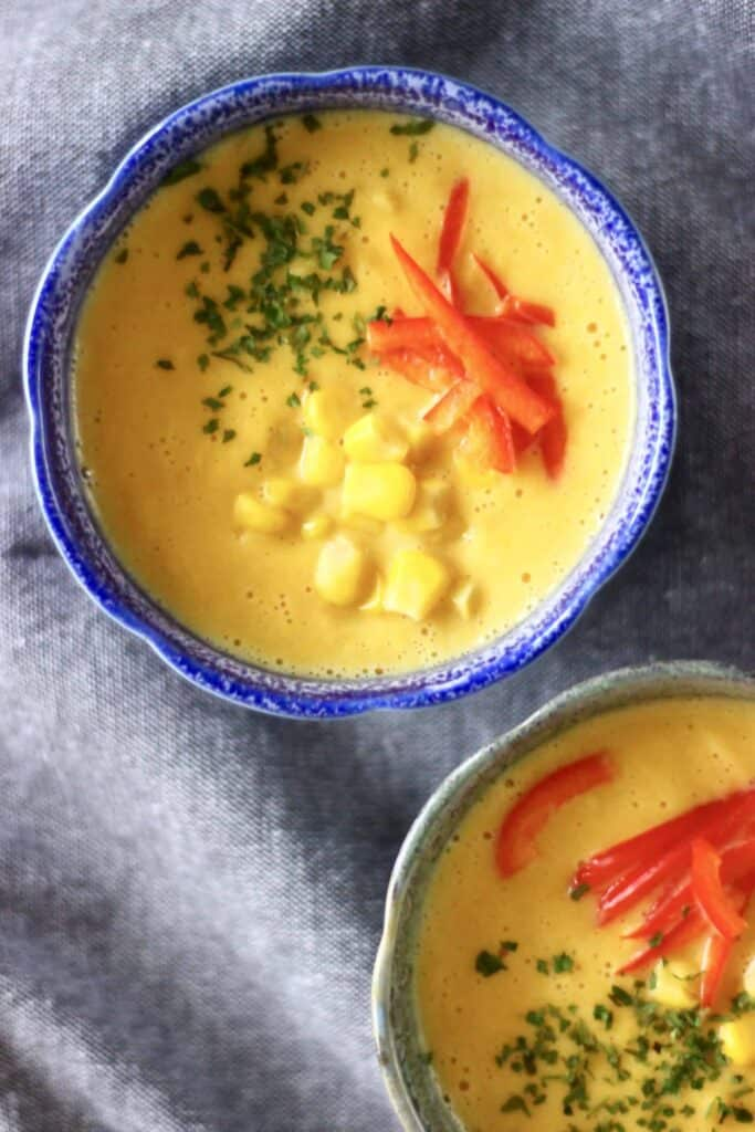 Creamy Vegan Corn Chowder (GF)