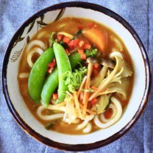 Vegan Curry Udon (GF)