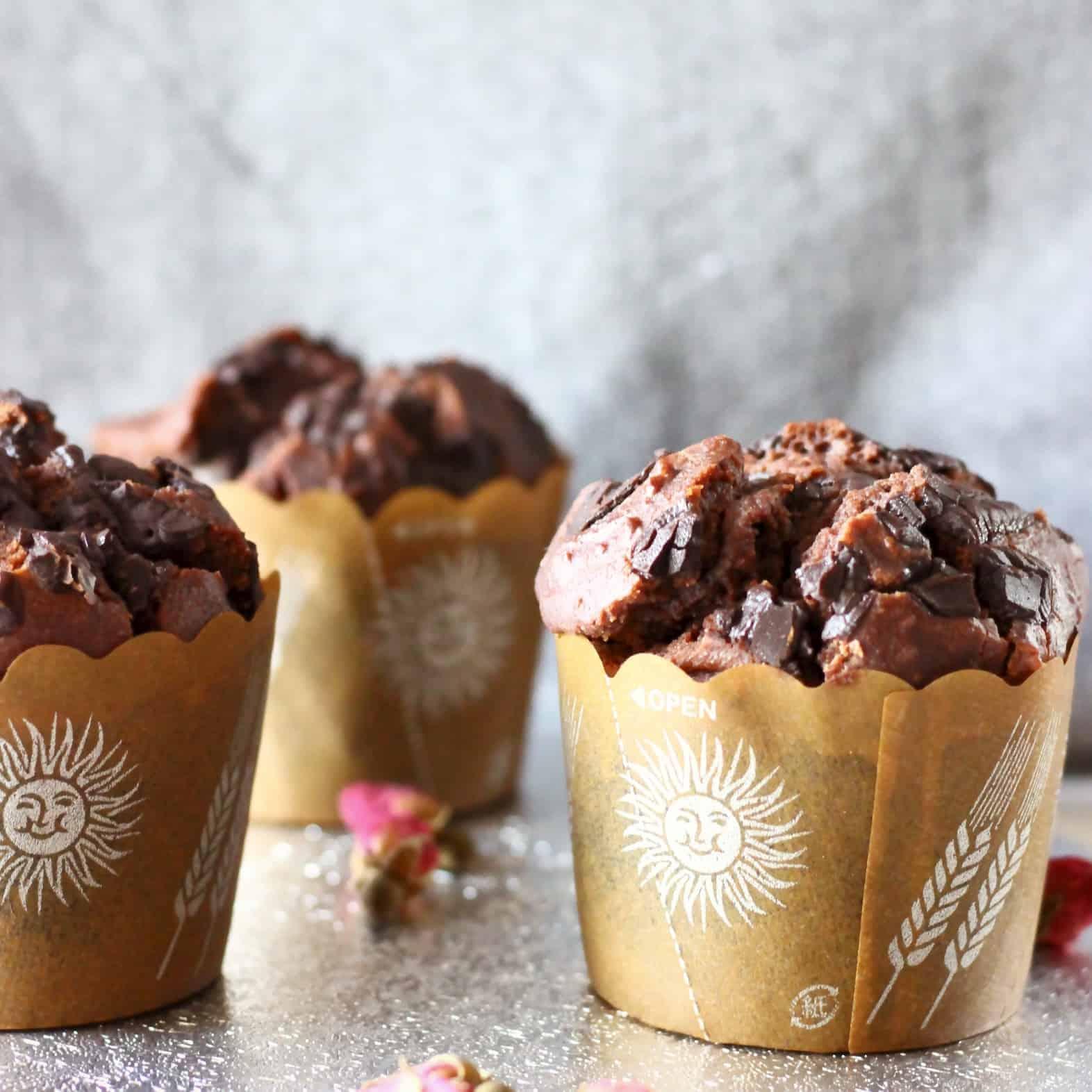 Gluten-Free Vegan Chocolate Muffins