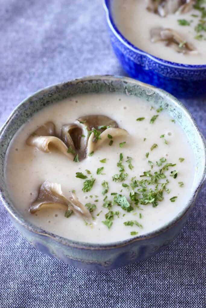 Vegan Cream of Mushroom Soup (GF)