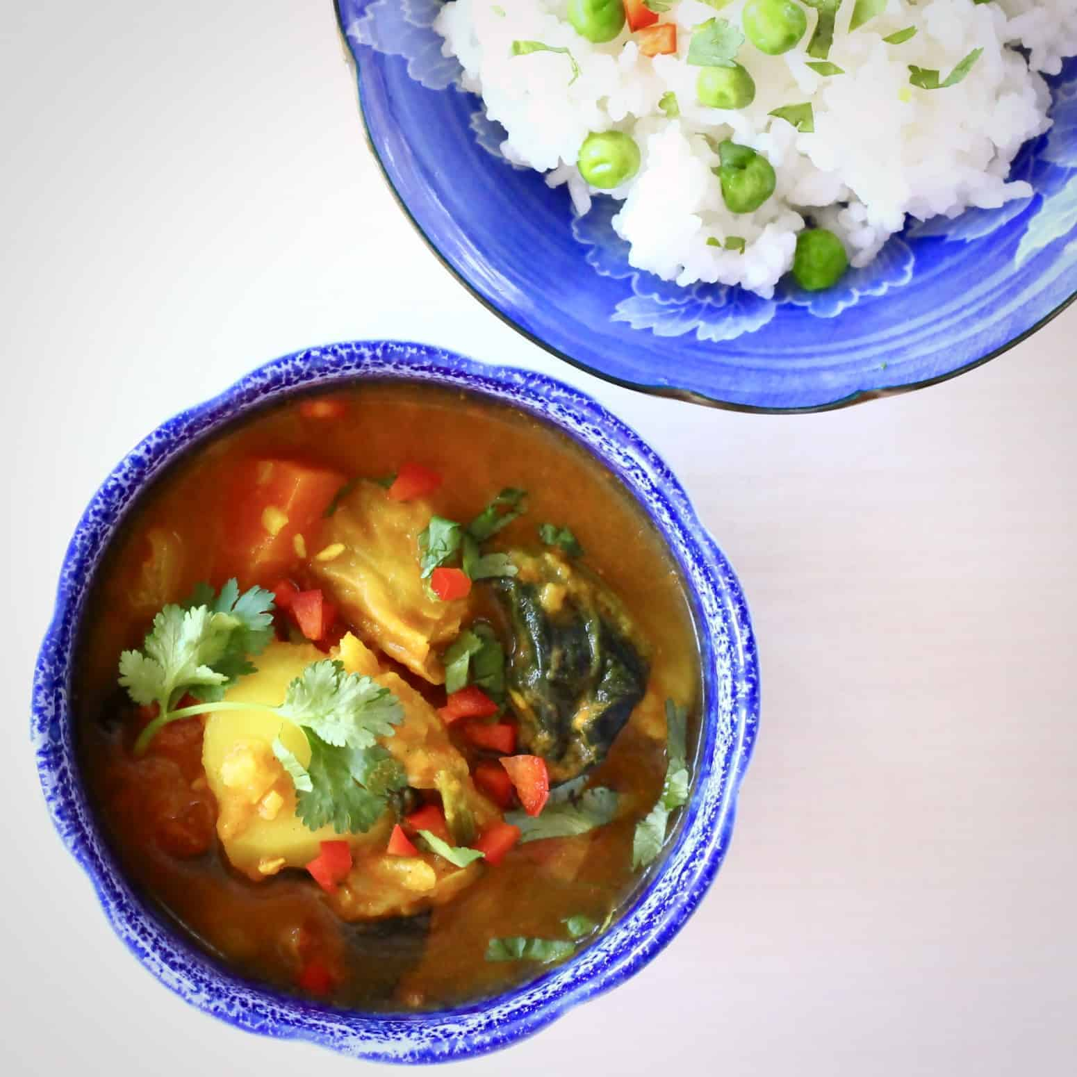 Cabbage Potato Curry (Vegan + GF)