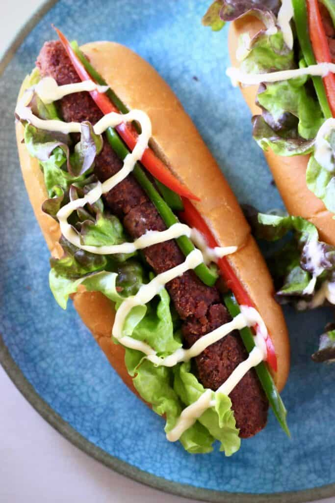 Vegan Chorizo Hot Dogs (GF)