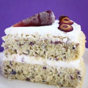 Gluten-Free Vegan Purple Carrot Cake