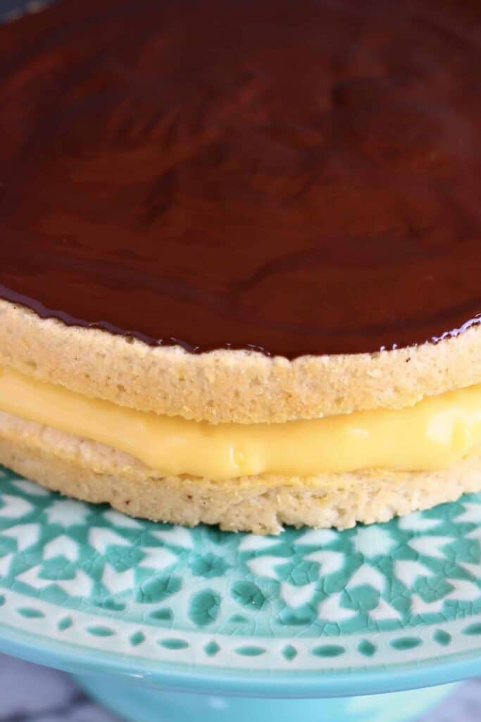 Gluten-Free Vegan Boston Cream Pie