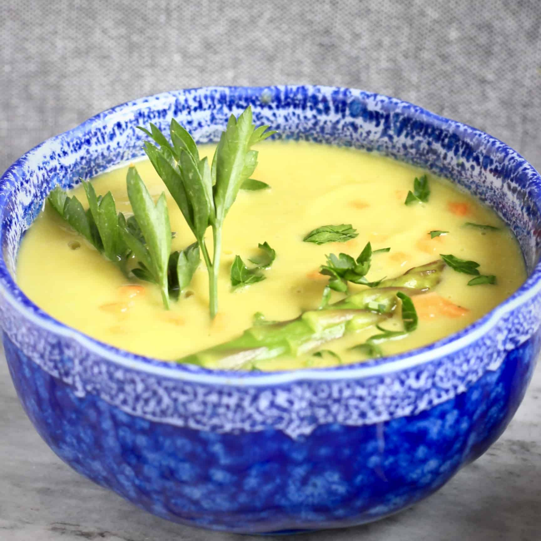 Vegan Cream of Asparagus Soup (GF)