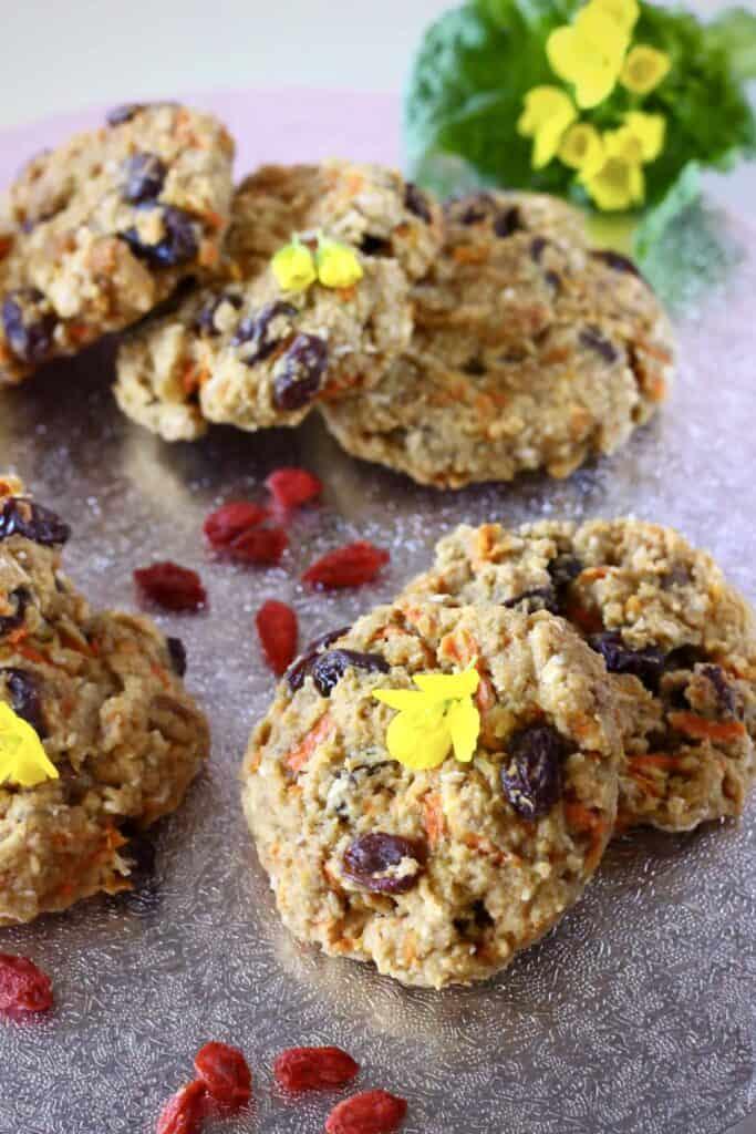 Gluten-Free Vegan Carrot Cake Cookies