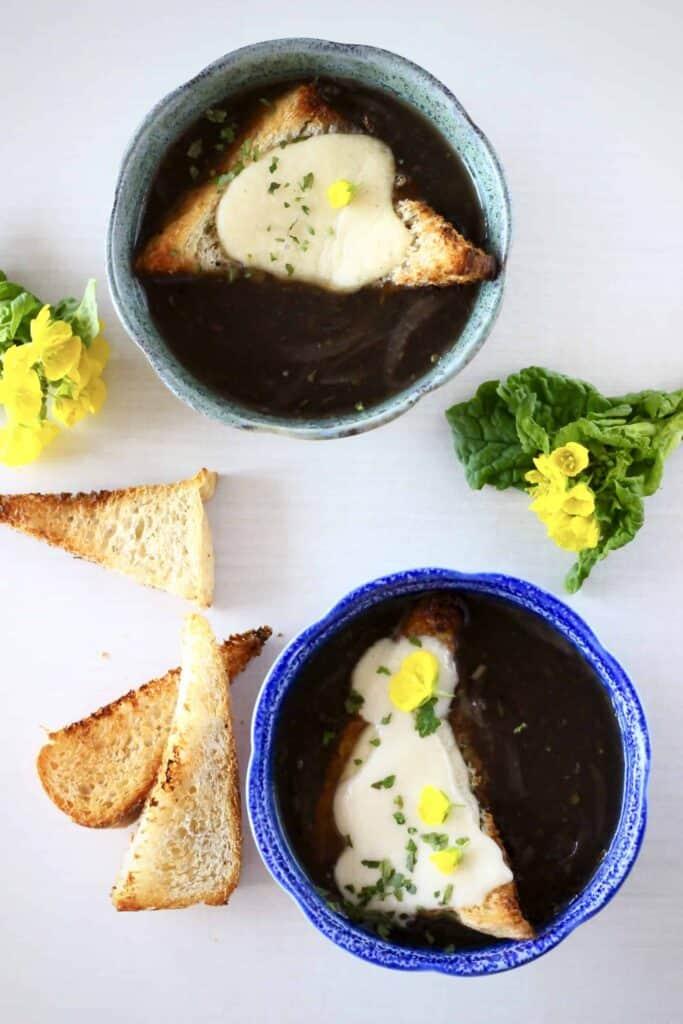 Vegan French Onion Soup (GF)