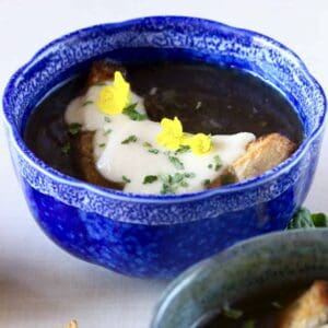 Vegan French Onion Soup (GF)