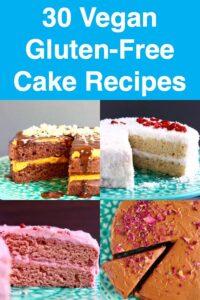 Collage of four cake photos