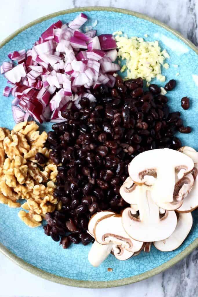 Vegan Mushroom Black Bean Burger (GF)