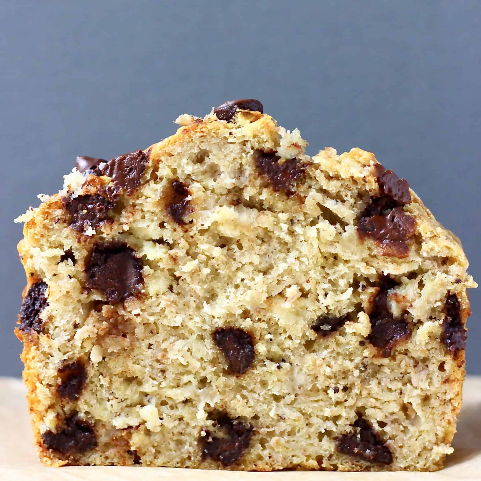 Gluten-Free Vegan Chocolate Chip Banana Bread