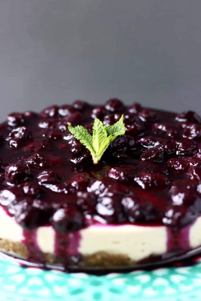 Vegan Blueberry Cheesecake (Gluten-Free)