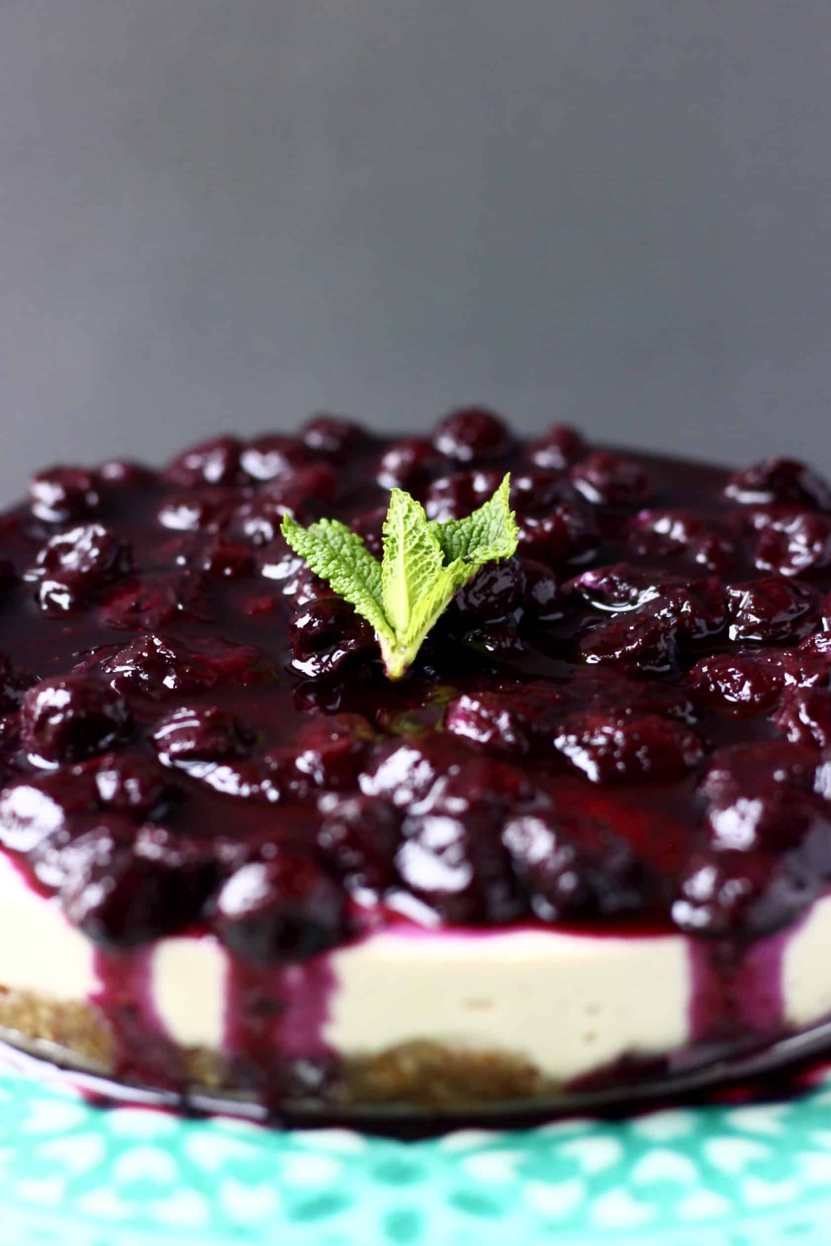Vegan Blueberry Cheesecake (Gluten-Free)