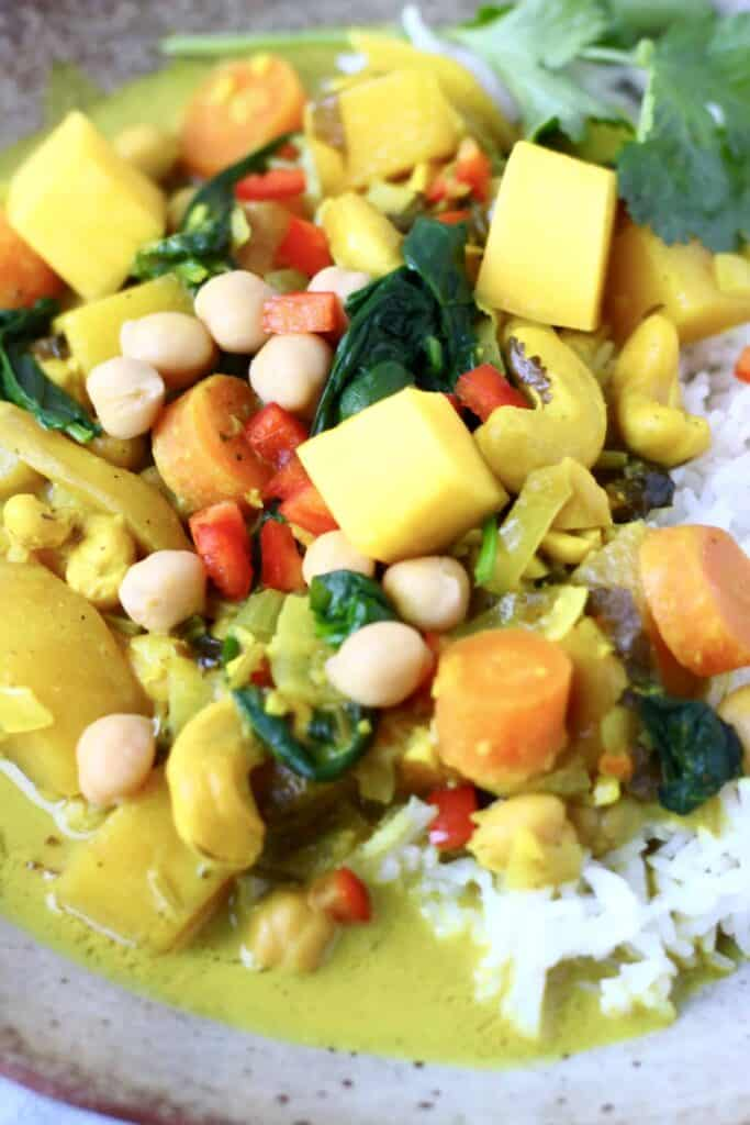 Chickpea Coconut Mango Curry (Vegan + GF)