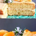 A collage of two Gluten-Free Vegan Orange Cake photos